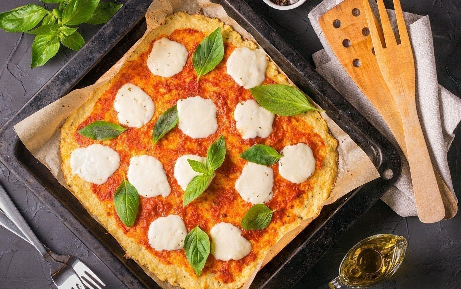Нисковъглехидратна пица Маргарита